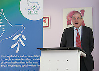 ***NO FEE PIC ***<br /> 11/06/2014<br /> Edward Gleeson from Mason Hayes &amp; Curran <br /> during The Mercy Law Resource Centre's Annual Report for 2013 at Sophia Housing on Cork Street, Dublin.<br /> Photo:  Gareth Chaney Collins