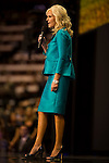Cindy McCain speaks at the GOP Convention with some of her family (extended) before her husbands excepts the republican nomination for president in Saint Paul, Minnesota Thursday night. September 9, 2008.