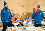 St Johnstone players took some festive cheer to Fairview School in Perth gving out selection boxes and gifts to the pupils&hellip;Zander Clark and David Wotherspoon having fun with secondary school pupils Noah (left) and Aaron during a cookery lesson <br /><br />Picture by Graeme Hart.<br />Copyright Perthshire Picture Agency<br />Tel: 01738 623350  Mobile: 07990 594431