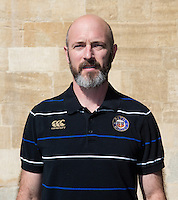 Physiotherapist Brent Taylor poses for a portrait at a Bath Rugby photocall. Bath Rugby Media Day on September 8, 2015 at Farleigh House in Bath, England. Photo by: Rogan Thomson for Onside Images