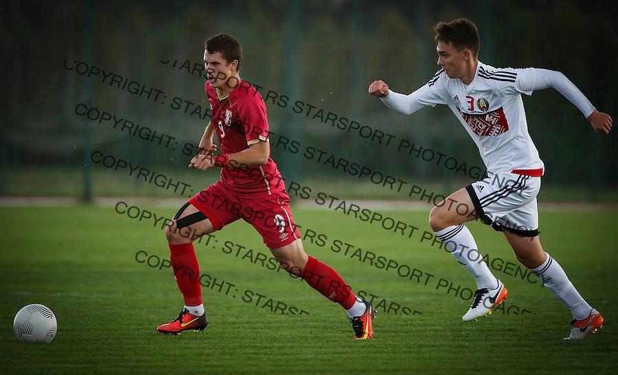 Fudbal Soccer<br /> International Friendly-Prijateljski mec<br /> Srbija U17 v Belorusiaj U17<br /> Filip Stuparevic (L) <br /> Stara Pazova, 20.09.2016<br /> foto: Srdjan Stevanovic/Starsportphoto &copy;