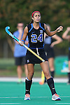 19 September 2014: Duke's Aileen Johnson. The Duke University Blue Devils hosted the University of Virginia Cavaliers at Jack Katz Stadium in Durham, North Carolina in a 2014 NCAA Division I Field Hockey match. Virginia won the game 2-1.