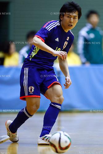 Kazuhiro Nibuya (JPN), <br /> DECEMBER 18, 2014 - Futsal : International Friendly Match between Japan 1-1 Croatia at Komazawa gymnasium, Tokyo, Japan. (Photo by AFLO SPORT) [1180]
