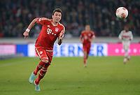 FUSSBALL   1. BUNDESLIGA  SAISON 2012/2013   19. Spieltag   VfB Stuttgart  - FC Bayern Muenchen      27.01.2013 Mario Mandzukic (FC Bayern Muenchen) mit Ball