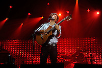 Multi-platinum singer-songwriter Jason Mraz performs to a capacity crowd, Sept. 25, 2010, at Harding University Benson Auditorium in Searcy, Arkansas. (Noah Darnell/pressphotointl.com)