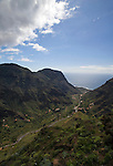 Road snaking through Valle Gran Rey, La Gomera, Canary Islands