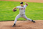 2 July 2011: Tri-City ValleyCats pitcher Garrett Bullock on the mound against the Vermont Lake Monsters at Centennial Field in Burlington, Vermont. The Monsters rallied from a 4-2 deficit to defeat the ValletCats 7-4 in NY Penn League action. Mandatory Credit: Ed Wolfstein Photo