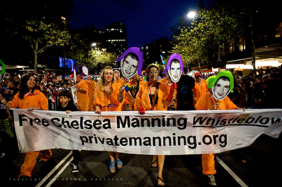 Sydney Mardi Gras 2014, SAWC float for Chelsea Manning 01.03.14