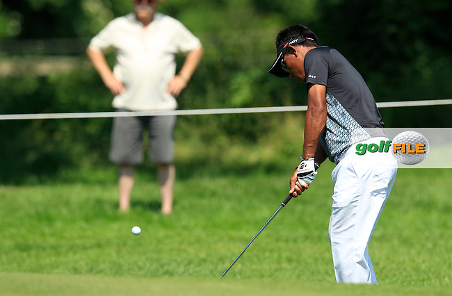 Thongchai Jaidee (THA) chips onto the 3rd green during Thursday's Round 1 of the 2013 BMW International Open held on the Eichenried Golf Club, Munich, Germany. 20th June 2013<br /> (Picture: Eoin Clarke www.golffile.ie)