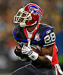 7 December 2008: Buffalo Bills' cornerback Leodis McKelvin receives a kickoff during a game against the Miami Dolphins in the first regular season NFL game ever played in Canada. The Dolphins defeated the Bills 16-3 at the Rogers Centre in Toronto, Ontario. ..Mandatory Photo Credit: Ed Wolfstein Photo