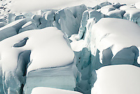 Massive seracs and crevasses on the Fox Glacier - Westland National Park