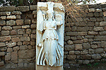 Statue of Nike, Roman victory goddess, Ashkelon National park, Israel<br />