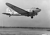 """Few aircraft were as well known or were so widely used for so long as the C-47 or """"Gooney Bird"""" as it was affectionately nicknamed. The C-47 was adapted from the DC-3 commercial airliner which appeared in 1936. By the end of World War Two 9,348 had been procured for United States Army Air Force use. They carried personnel and cargo and in a combat role, towed troop carrying gliders and dropped paratroops into enemy territory..Credit: U.S. Air Force via CNP"""