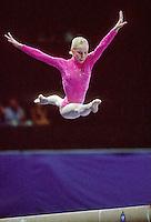 July 22, 1998; New York, NY, USA; Artistic gymnast Zeena McLaughlin of Australia performs on balance beam at 1998 Goodwill Games New York. Copyright 1998 Tom Theobald