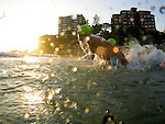 One of Australia's longest running and most prestigious ocean swims, the Cole Classic 2007 at Manly, Sydney.<br /> Thousands of swimmers gather at Manly to compete in either a 1km or 2km swim. This truly iconic event is a challenge for people to swim a reasonable distance through the surf, taking courage and determination. <br /> Swimming (aquatic locomotion) is biologically propelled motion through a liquid medium. Swimming has evolved a number of times in a range of organisms ranging from arthropods to fish to molluscs.