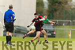 Sean O'Shea Kenmare in action against Adare at Mallow on Sunday
