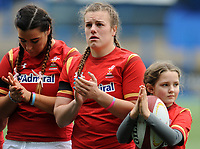 An emotional Wales' Carys Phillips during the minutes applause for Elli Norkett who passed away<br /> <br /> Photographer Ian Cook/CameraSport<br /> <br /> Women's Six Nations Round 4 - Wales Women v Ireland Women - Saturday 11th March 2017 - Cardiff Arms Park - Cardiff<br /> <br /> World Copyright &copy; 2017 CameraSport. All rights reserved. 43 Linden Ave. Countesthorpe. Leicester. England. LE8 5PG - Tel: +44 (0) 116 277 4147 - admin@camerasport.com - www.camerasport.com
