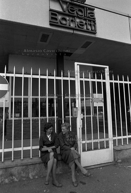 1988 Veglia Borletti, ingresso della fabbrica<br /> 1988 Veglia Borletti, entrance to the factory