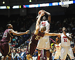 Ole Miss' Reginald Buckner (23) vs. Arkansas Little Rock's Will Neighbour (53) at the C.M. &quot;Tad&quot; Smith Coliseum in Oxford, Miss. on Friday, November 16, 2012. Ole Miss won 92-52.