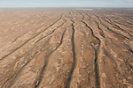 Aerial - Simpson Desert Regional Reserve. The many sand dunes of the Simpson Desert.
