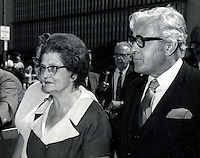 "Famed ""trunk murderess"" Winnie Ruth Judd with her attorney the flamboyant Melvin Belli. Belli. (1969 photo by Ron Riesterer)"