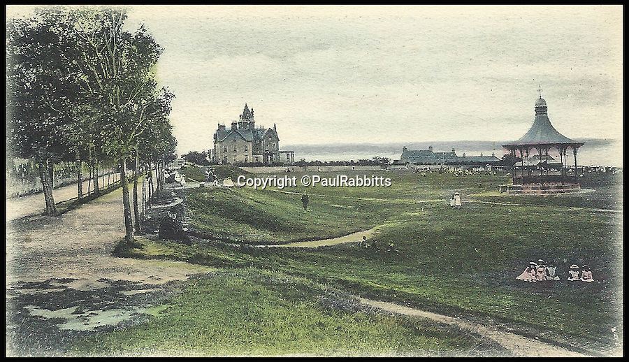 BNPS.co.uk (01202 558833)<br /> Pic: PaulRabbitts/BNPS<br /> <br /> ***Please Use Full Byline***<br /> <br /> The Links, Wallace Bandstand, Nairn, Scotland still stands today and was built in 1884.<br /> <br /> A landscape gardener is trumpeting the great British creation of the bandstand after touring the country's parks to study the iconic structures for a new book.<br /> <br /> Paul Rabbitts' work is a celebration of the Victorian platforms and a throwback to the halycon days of outdoor music when thousands of people would gather in public parks for a brass band performance.