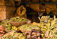 There is something timeless about this turbaned vegetable vendor in the backstreets of Varanasi. (Photo by Matt Considine - Images of Asia Collection)
