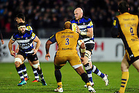 Matt Garvey of Bath Rugby in possession. Aviva Premiership match, between Bath Rugby and Bristol Rugby on November 18, 2016 at the Recreation Ground in Bath, England. Photo by: Patrick Khachfe / Onside Images