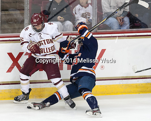 Haley Skarupa (BC - 22), Dakota Derrer (SU - 19) - The Boston College Eagles defeated the visiting Syracuse University Orange 10-2 on Saturday, October 4, 2014, at Kelley Rink in Conte Forum in Chestnut Hill, Massachusetts.