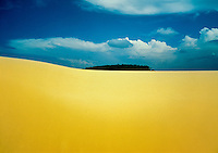 Dunes at Ilha do Caju ( Caju Island ), in the delta of the Parnaíba River, between the states of Maranhao and Piaui, in northeastern Brazil, with its deserted beaches. The delta is the only one in the Americas located in open ocean.