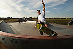 Darb Erickson skates at the new Callingwood skate park  on Tuesday September 15, 2009. Photography by Ian Jackson, EPIC Photography Inc...