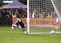 Eric Reed #23 Of the Carolina Railhawks saves a penalty during the second leg of the USSF-D2 championship match against the Puerto Rico Islanders at WakeMed Soccer Park, in Cary, North Carolina on October 30 2010.