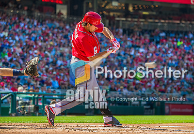 8 June 2013: Washington Nationals infielder Anthony Rendon in action against the Minnesota Twins at Nationals Park in Washington, DC. The Twins edged out the Nationals 4-3 in 11 innings. Mandatory Credit: Ed Wolfstein Photo *** RAW (NEF) Image File Available ***
