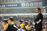 "Switzerland. Lugano. Patrick Fischer. Head coach Hockey Club Lugano. Hockey Club Lugano, often abbreviated to HC Lugano or HCL, is a professional ice hockey club based in Lugano. The ice rink "" La Resega"" is an arena, primarily used for ice hockey and is the home arena of Hockey Club Lugano. 24.09.13 © 2013 Didier Ruef"