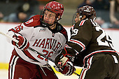 Luke Greiner (Harvard - 26), Massimo Lamacchia (Brown - 29) - The Harvard University Crimson defeated the visiting Brown University Bears 3-2 on Friday, November 2, 2012, at the Bright Hockey Center in Boston, Massachusetts.