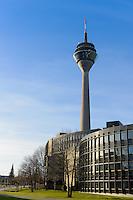 Dusseldorf TV Tower Rheinturm on Apollo-platz, Germany