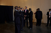 New Orleans, Louisiana.USA.September 8, 2004..Democratic Presidential hopeful Senator John Kerry arrives with Jessie Jackson in New Orleans to speak to the 124th Annual Session of the National Baptist Convention at the Ernest Morial Convention Center.