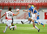 Hamilton Accies v St Johnstone...16.08.14  SPFL<br /> David Wotherspoon and Grant Gillespie<br /> Picture by Graeme Hart.<br /> Copyright Perthshire Picture Agency<br /> Tel: 01738 623350  Mobile: 07990 594431