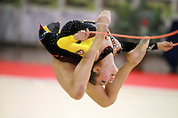 Aliya Garaeva competing for Azerbaijan ring jumps with rope at 2006 Trofeo Cariprato in Prato, Italy on June 17, 2006.  (Photo by Tom Theobald)