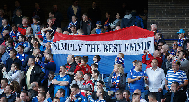 Rangers fans pay tribute to Emmie Smillie who lost her battle with cancer recently