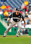 22 April 2010: Colorado Rockies' first baseman Todd Helton in action during a game against the Washington Nationals at Nationals Park in Washington, DC. The Rockies shut out the Nationals 2-0 gaining a 2-2 series split. Mandatory Credit: Ed Wolfstein Photo