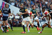 Victor Matfield of South Africa in possession. Rugby World Cup Pool B match between South Africa and Japan on September 19, 2015 at the Brighton Community Stadium in Brighton, England. Photo by: Patrick Khachfe / Onside Images