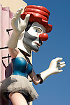 Clown ballerina figure in Venice Beach, CA