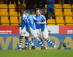 St Johnstone v Aberdeen.....30.01.13      SPL.Rowan Vine celebrates his goal.Picture by Graeme Hart..Copyright Perthshire Picture Agency.Tel: 01738 623350  Mobile: 07990 594431