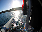 Onboard theSailingOne 7.65m (25') one-design catamaran with the skipper Philippe Peche and crew Tracy Lee Turner during the Hamilton Island Race Week 2009..This is the SailingOne 7.65m (25') one-design catamaran specially designed for the competition and exclusively used for the Trophée Clairefontaine. Very powerful and very spectacular - capsizing is by no means excluded - the SailingOne one-design catamaran with its unique characteristics completely offers equal chances to specialists of monohull and multihull alike. It is an exceptional boat for a competition that is unique in the world today....  Onboard theSailingOne 7.65m (25') one-design catamaran with the skipper Philippe Peche and crew Tracy Lee Turner during the Hamilton Island Race Week 2009..This is the SailingOne 7.65m (25') one-design catamaran specially designed for the competition and exclusively used for the Trophée Clairefontaine. Very powerful and very spectacular - capsizing is by no means excluded - the SailingOne one-design catamaran with its unique characteristics completely offers equal chances to specialists of monohull and multihull alike. It is an exceptional boat for a competition that is unique in the world today....