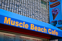 Muscle Beach Cafe, Oceanfront Walk Merchant, Venice, Ca, Ocean Front Walk, Venice Beach, Los Angeles, California, United States of America