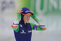 SPEED SKATING: INZELL: 04-12-2015, Max Aicher Arena, ISU World Cup, 500m Ladies, B-division, Janine Smit (NED), ©foto Martin de Jong
