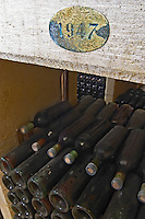 old bottles in the cellar 1947 couvent des jacobins saint emilion bordeaux france