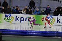 SCHAATSEN: GRONINGEN: Sportcentrum Kardinge, 17-01-2015, KPN NK Sprint, Daidai Ntab, Sjoerd de Vries, ©foto Martin de Jong