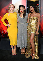 HOLLYWOOD, CA - APRIL 18: Zoe Bell, Tracie Thoms, Rosario Dawson at the premiere of 'Unforgettable' at the TCL Chinese Theatre on April 18, 2017 in Hollywood, California. <br /> CAP/MPI/DE<br /> &copy;DE/MPI/Capital Pictures